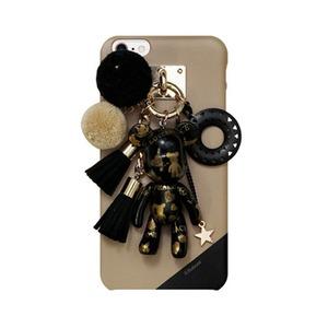 MrH(ミスターエイチ)スマホスキニーケース/ポポベビー ラブ&ピース(ブラック) iphone8