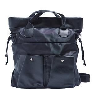 ビジネスで使える!ポケット付軽くて丈夫なレディースバッグ/ブラック