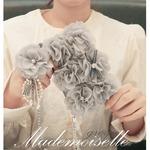 MrH(ミスターエイチ)スマホウォレットケース/マドモアゼルグレイByGalaxyS8plus(チェーン付)