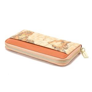 PRIMA CLASSE(プリマクラッセ)P-7504 切り替えデザインのラウンドジップ長財布 (ブラウン)