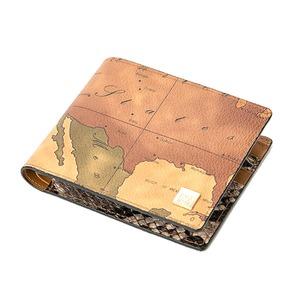 PRIMA CLASSE(プリマクラッセ)PSW8-2135 スネーク仕様二つ折り財布 (ブラウン)