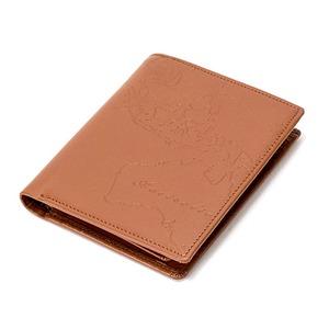 PRIMA CLASSE(プリマクラッセ)PSW7-2119 型押しデザイン二つ折りミニ財布 (ブラウン)