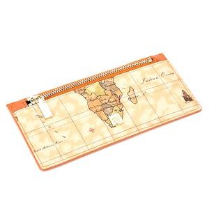 PRIMA CLASSE(プリマクラッセ)P-7507 小さめバッグにも入る薄型長財布 (ブラウン)