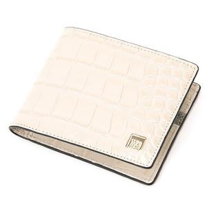 PRIMA CLASSE(プリマクラッセ)PSW9-2138 クロコ型押しレザー二つ折り財布 (アイボリー)