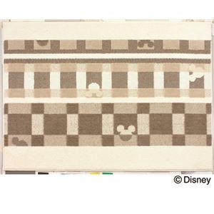 スミノエ DISNEY DRM-1012ラグ MICKEY/Texture line RUG 100×140cm アイボリー