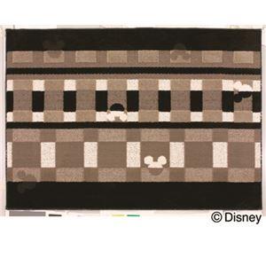 スミノエ DISNEY DRM-1012ラグ MICKEY/Texture line RUG 100×140cm ブラック
