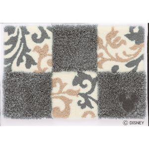 スミノエ DISNEY DMM-4027マット MICKEY/Checker board MAT 50×80cm グレー