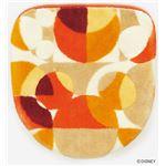 スミノエ DISNEY DTM-5004トイレフタ MICKEY/semicircle FUTA COVER 48×49cm レッド