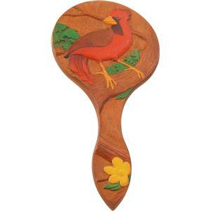 木彫手鏡(しな)