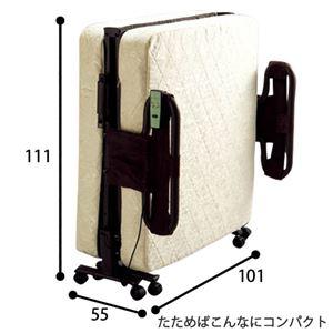 折りたたみ式リクライニング電動ベッド 【1: シングル/ボンネルコイルタイプ】 安全ネット/手すり付き 【完成品】