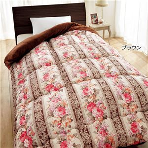 衿裏あったか毛布地 掛け布団セット 【シングル 3色組 ブラウン/グリーン/ベージュ】 一体型 寝具 〔和室 洋室〕