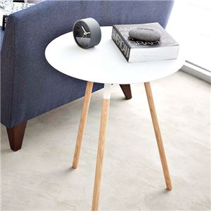 おしゃれな丸型シンプルデザインテーブル ホワイト