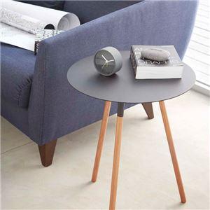 おしゃれな丸型シンプルデザインテーブル ブラック