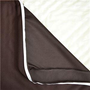 リバーシブルウレタンマットレス 【シングル ブラウン】 洗える カバー付き 通気性抜群 体重分散/体圧分散 ベッド対応 敷物