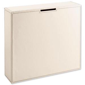レザー調トイレットペーパーボックス アイボリー