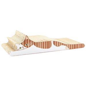 にゃんこの爪とぎ(猫用・ネコ用)(ペット用品・ペットグッズ) トラネコ