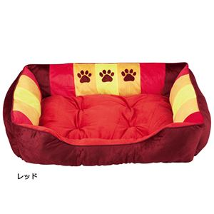 ふかふかペットベッド2(ペット用ベッド・寝床・洗える)(犬用・猫用・犬猫用・ドッグ・キャット) 【3L】 レッド