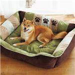 ふかふかペットベッド2(ペット用ベッド・寝床・洗える)(犬用・猫用・犬猫用・ドッグ・キャット) 【3L】 グリーン