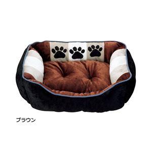 ふかふかペットベッド2(ペット用ベッド・寝床・洗える)(犬用・猫用・犬猫用・ドッグ・キャット) 【LL】 ブラウン