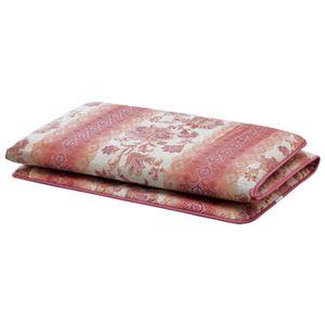 固わたマットレス/寝具 【ピンク ダブル】 床付き軽減 日本製 ポリエステル 綿混 〔ベッドルーム 寝室〕
