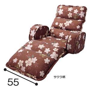 低反発もこもこ座椅子 【ダークグリーン レザー調 ひじ付タイプ】 リクライニング スチールパイプ ウレタン 固定用バンド付き