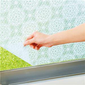 【同色2枚組】UVカット窓ピタシート【窓用シート・窓ガラスシート】 ブルーレース