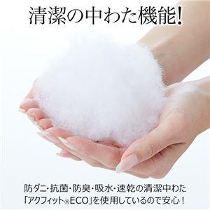 帝人ファイバー 敷布団 【ダブル】 日本製 側生地綿100% 防ダニ 抗菌 防臭 吸汗 速乾 〔寝室〕