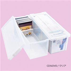 カラフル収納ケース6個組 クリア CD&DVD