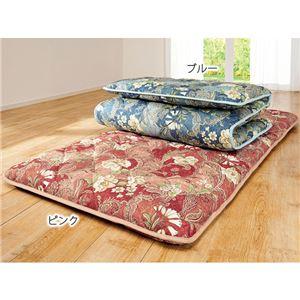 寝心地の良い防ダニ抗菌防臭3層構造敷布団 ダブル ピンク