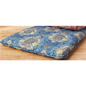 フランス産ウール使用防ダニ抗菌防臭敷布団 ブルー シングル