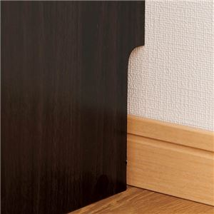 ベッド用 スリムラック/収納棚 【幅90cm×奥行20cm×高さ60cm】 高さ調整可 〔寝室 ベッドルーム〕