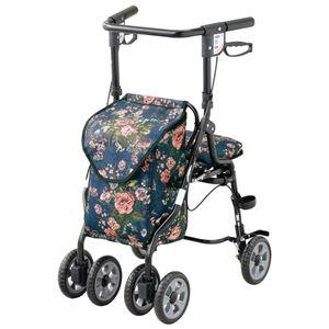 軽量 キャリーカート 【56×80.5〜89.5×47cm】 折りたたみ 椅子 杖・傘立て付き 快適ショッピング歩行器 『オアシスNEW』