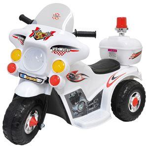 電動 ポリスバイク/おもちゃ 【白バイ 幅35cm】 充電時間約8〜12時間 連続使用時間約1.5〜2時間 6か月間保証書付き