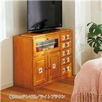 モダン テレビ台/テレビボード 【幅85cm ライトブラウン】 木製 引き出し付き 『南欧風家具』 〔リビング ダイニング〕