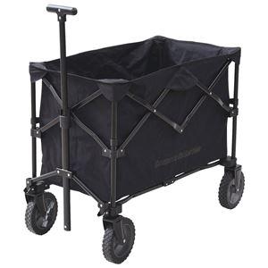 移動も運ぶのもラクラク4輪カート ブラック