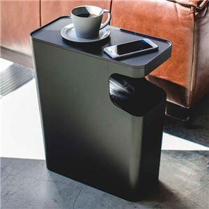 スタイリッシダストボックスサイドテーブル ブラック