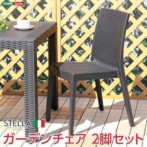 ガーデンチェア 2脚セット【ステラ-STELLA-】(ガーデン カフェ) ブラック