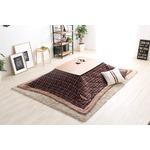 ウォールナットの天然木化粧板こたつテーブル+布団セット(7柄)日本メーカー製|Mill-ミル- Eセット こたつ布団カラー:タータンレッド