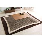 ウォールナットの天然木化粧板こたつテーブル+布団セット(7柄)日本メーカー製|Mill-ミル- Cセット こたつ布団カラー:ブラウンツイード