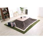 ウォールナットの天然木化粧板こたつテーブル+布団セット(7柄)日本メーカー製|Mill-ミル- Aセット こたつ布団カラー:ブルーチェック