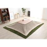 ウォールナットの天然木化粧板こたつテーブル+布団セット(7柄)日本メーカー製|Mill-ミル- Dセット こたつ布団カラー:ベージュツイード