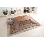 ウォールナットの天然木化粧板こたつテーブル+布団セット(7柄)日本メーカー製|Mill-ミル- Gセット こたつ布団カラー:ガンクラブベージュ