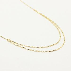 10金イエローゴールド 42cm 鏡面 デザイン チェーン ネックレス
