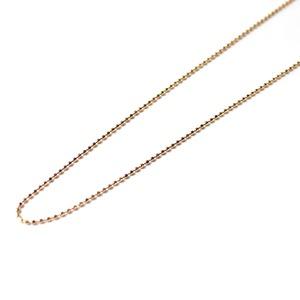 18金ピンクゴールド カットボールチェーンネックレス 42cm 1g
