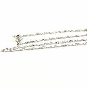 造幣局検定刻印入り 純プラチナ スクリューチェーン  ネックレス 42cm 2.0g