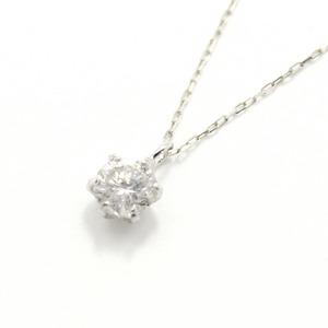 造幣局刻印 純プラチナ 0.3ct ダイヤモンドペンダント/ネックレス アズキチェーン