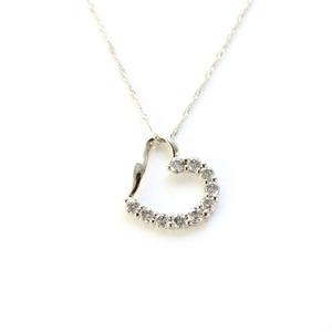 プラチナ 0.4ct ハート ダイヤモンドペンダント/ネックレス