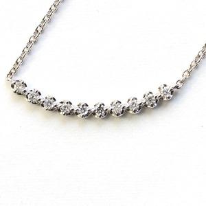 純プラチナ ダイヤモンド ラインペンダント ネックレス
