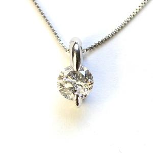 0.3ct 純プラチナ 2本爪 ダイヤモンド ペンダント ネックレス