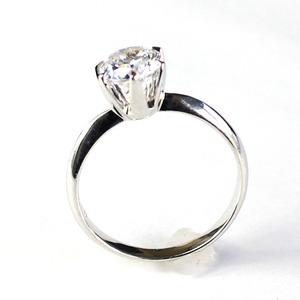 CZ スーパーキュービック シンプル デザインリング 19号 指輪 一粒